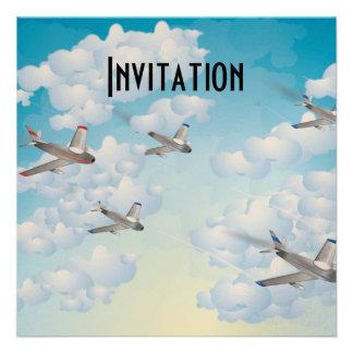 Jets Custom Invitation