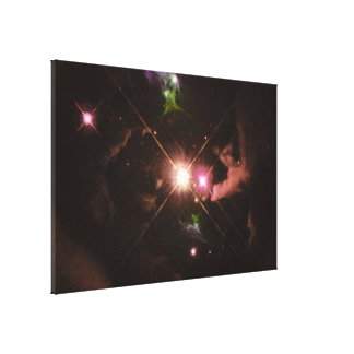 Jets of Material Ejected From a Young Star Canvas Print