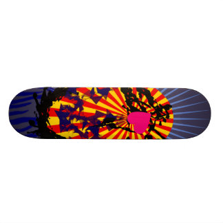 Jets oval with heart rays oval with heart skateboard deck