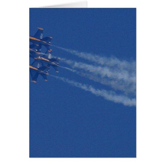 Jets Planes Blue Angels Card