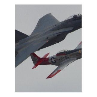 Jets Planes Pilots Cockpits Propellers Postcard