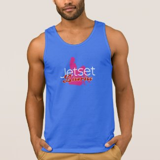 Jetset Licorice > Men's Tank Top - Pinup Airline