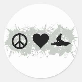 Jetski Classic Round Sticker