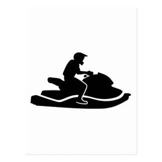 Jetski racing postcard