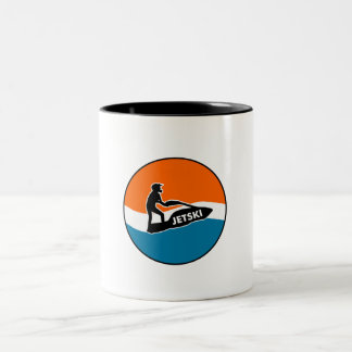 JetSki Two-Tone Coffee Mug
