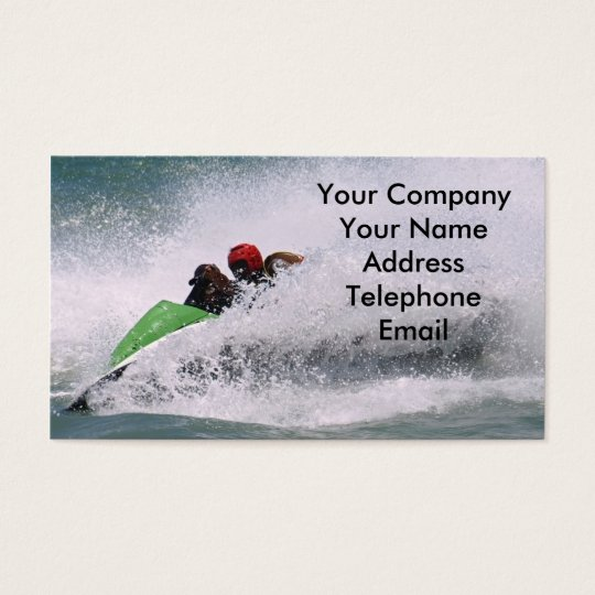 Jetskiing in the Ocean Business Card