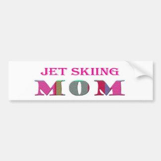 JetSkiingMom Car Bumper Sticker