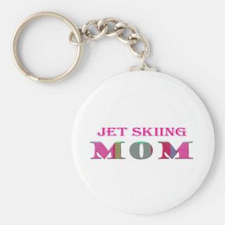JetSkiingMom Llavero Redondo Tipo Pin