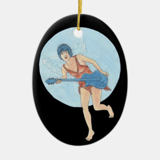 Jett aerodinámico adorno navideño ovalado de cerámica