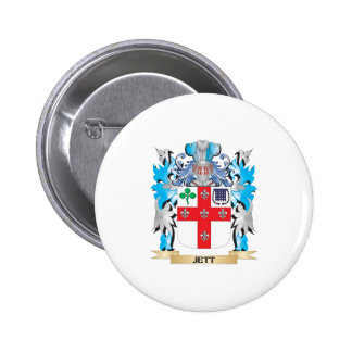 Jett Coat of Arms - Family Crest Button