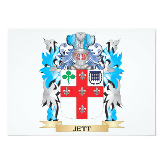 Jett Coat of Arms - Family Crest 5x7 Paper Invitation Card