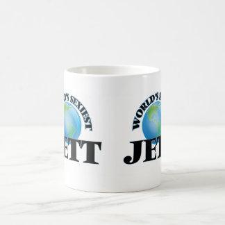 Jett más atractivo del mundo tazas de café