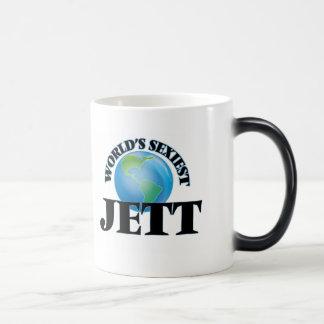 Jett más atractivo del mundo taza de café