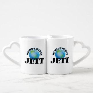 Jett más atractivo del mundo tazas para parejas