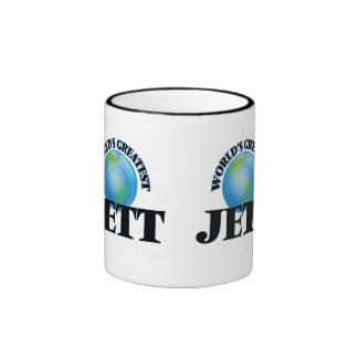 Jett más grande del mundo tazas de café