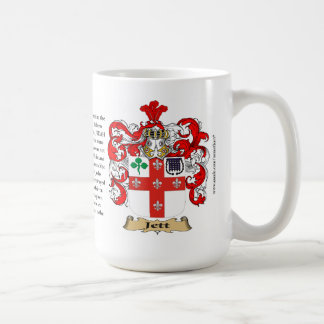 Jett, the Origin, the Meaning and the Crest Classic White Coffee Mug