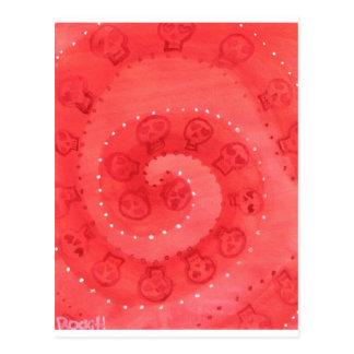 Jette Rockit! - Valentine SugarSkull Swirl Postcard