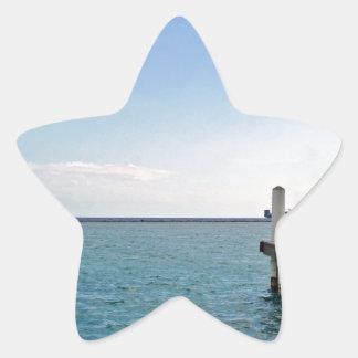 jette y cóctel tropicales pegatina en forma de estrella