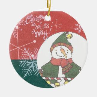 jetts christmas snowman flakes ornament