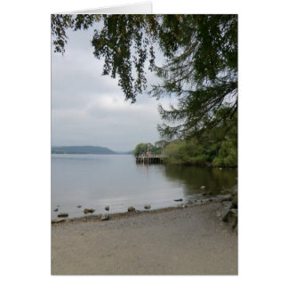 Jetty at Howtown, Ullswater Greeting Card