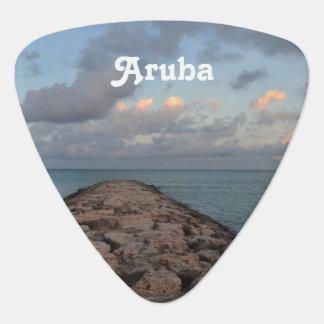 Jetty in Aruba Guitar Pick