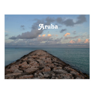 Jetty in Aruba Postcard