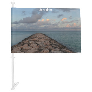 Jetty in Aruba Car Flag