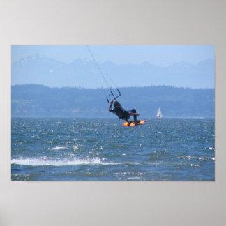 Jetty Island Wind Surfer Poster