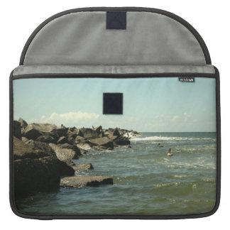 Jetty Rocks Inlet Pelican Sky Ft. Pierce Florida Sleeve For MacBooks