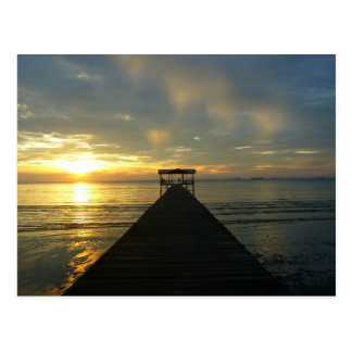 Jetty Sunset Postcard
