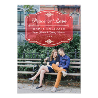 Jeune Amour Holiday Photo Card Personalized Invitation
