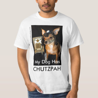 Jew Dog Chutzpah Tee by Little Penny Lane