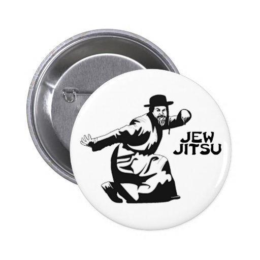 Jew Jitsu Button Pinback Button