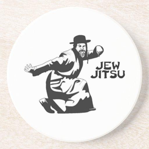 Jew Jitsu Beverage Coaster