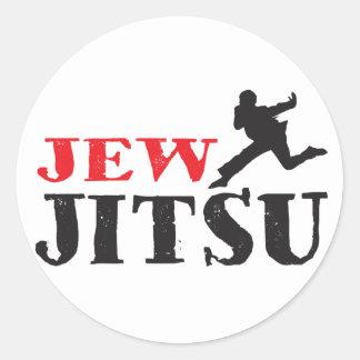 Jew Jitsu - Funny Jewish humor Classic Round Sticker