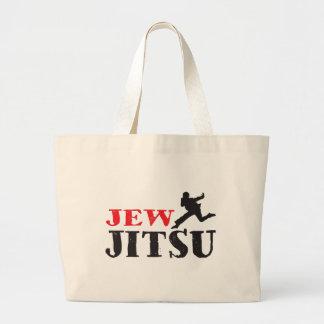 Jew Jitsu - Funny Jewish humor Large Tote Bag