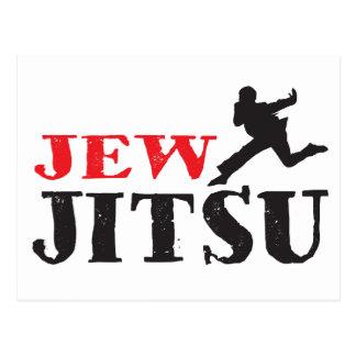 Jew Jitsu - Funny Jewish humor Postcard