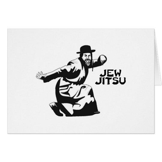 Jew Jitsu Martial Arts   Jewish Bar Mitzvah Gifts Card