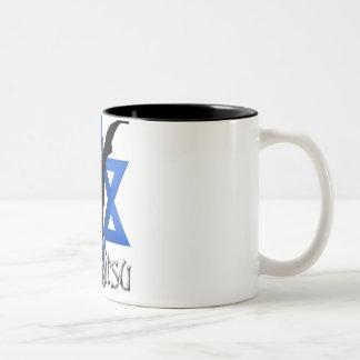 Jew Jitsu Two-Tone Coffee Mug