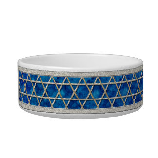 Jewbilee Blue and Silver Gray - Personalized Bowl
