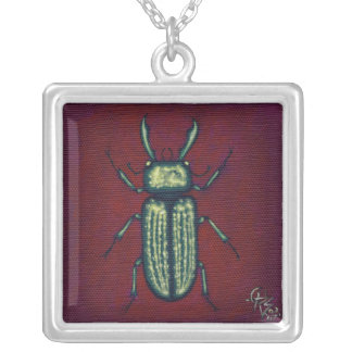 Jewel Beetle Necklace