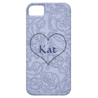 Jewel Blue Print iPhone 5 Cover