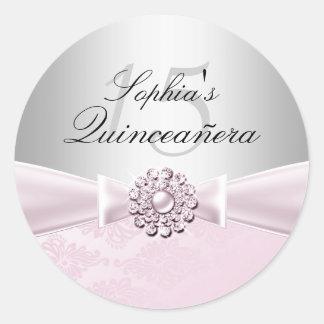 Jewel Bow Quinceanera Sticker