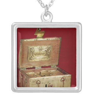 Jewel box silver plated necklace