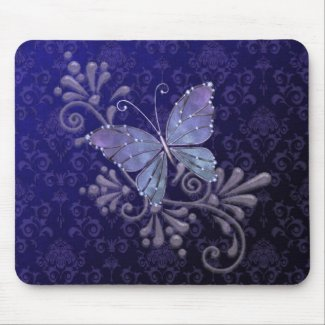 Jewel Butterfly mousepad