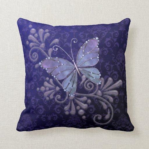 Jewel Butterfly Throw Pillow Zazzle