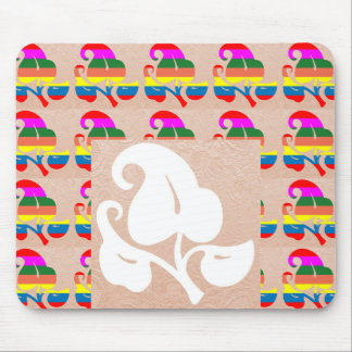 Jewel Colorful n White on Embossed Gold Foil Mouse Pad