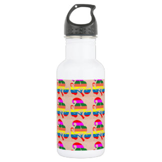 Jewel Colorful n White on Embossed Gold Foil Water Bottle