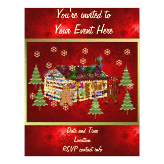 """Jewel-Covered Gingerbread House 8.5"""" X 11"""" Flyer"""