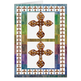 Jewel Cross Pendent - Love and Surrender Card